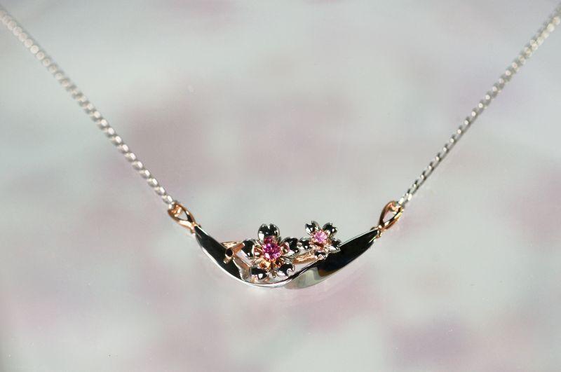 画像1: わに塚の桜 ネックレス チェリー&ブリーズ